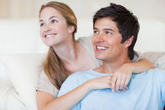 Close up of a smiling couple posing Royalty Free Stock Images