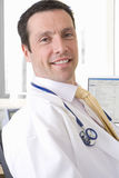 Close up of smiling doctor with stethoscope Royalty Free Stock Image