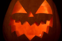 Close up smiling face of Jack of the Lantern Royalty Free Stock Photos