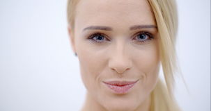 Close up Smiling Face of Pretty Blond Female