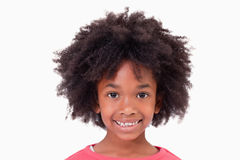 Close up of a smiling girl Royalty Free Stock Images