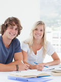 Close up of a smiling group of students looking at the camera Stock Image