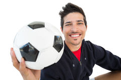 Close up of a smiling handsome football fan Stock Photo