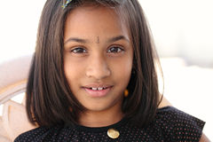 Close up of Smiling Indian little girl Royalty Free Stock Photos