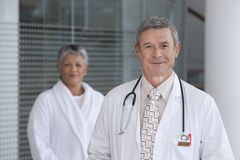 Close up of smiling male doctor Stock Images
