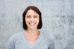 Close up smiling middle aged woman Stock Images