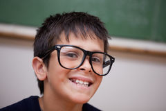 Close up of a smiling schoolboy Stock Photos