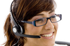Close up of smiling service provider Stock Image