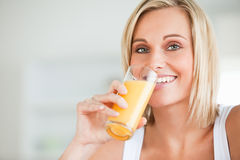 Close up of a smiling woman Stock Image