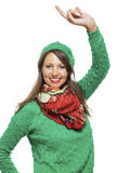 Close up Smiling Woman in Winter Outfit Royalty Free Stock Image