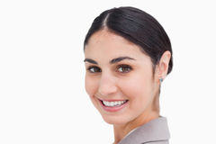 Close up of smiling young businesswoman Royalty Free Stock Image