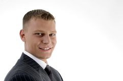 Close up of smiling young manager Stock Photo