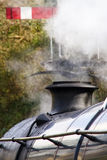 Close up of smoke stack of vintage steam train Royalty Free Stock Photography