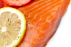 Close-up of smoked salmon Royalty Free Stock Photo