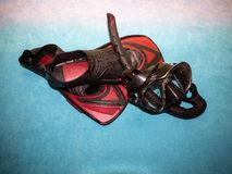 Close-up of snorkeling equipment. royalty free stock photo