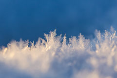 Close up of snow crystals Stock Images