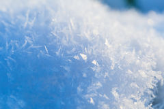 Close up of snow crystals Stock Photography
