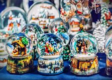 Snow globes. Close up of snow globes Stock Images