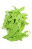 Close up of snow peas Stock Photo