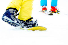 Close up of snowboard Royalty Free Stock Photography