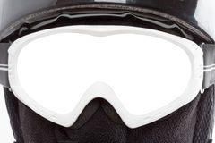 Close-up of snowboarder in balaclava Royalty Free Stock Photos