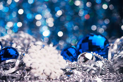 Close up of snowflake Royalty Free Stock Photography