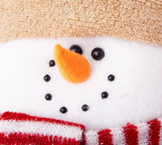 Close-up of snowman Stock Images