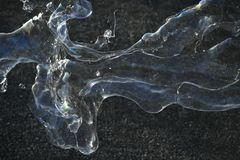 Close up of soap bubbles. Royalty Free Stock Photography