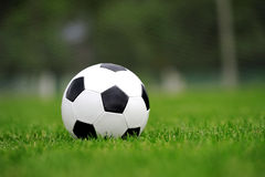 Close-up soccer ball Royalty Free Stock Photo