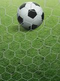 Close-up soccer ball on green grass. For design In the media Advertising Stock Image