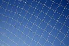 Close up of a soccer net. Royalty Free Stock Images