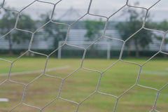 Close up soccer net goal. Royalty Free Stock Image
