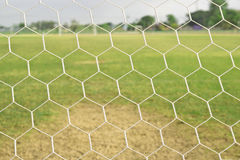 Close up soccer net Royalty Free Stock Images