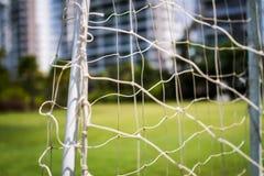 Close up soccer net Royalty Free Stock Photo
