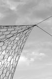 Close up soccer nets goal football Stock Images