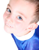 Close-up of a Soccer player. A Soccer player-close up on white Royalty Free Stock Photography