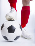 Close up soccer player Royalty Free Stock Photography