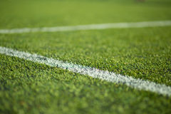 Close-up of soccer turf Royalty Free Stock Images