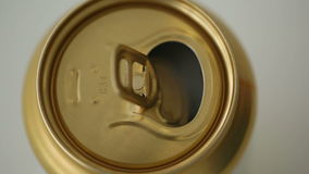Close up of soda or beer opening stock video footage