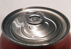 Close up of soda can Royalty Free Stock Photos