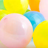 Close-up of soft plastic pit balls in warm hues Royalty Free Stock Image