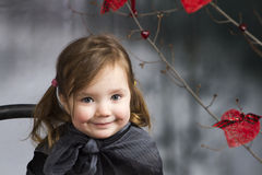 Close up soft portrait of litle girl Stock Images