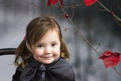 Close up soft portrait of litle girl Stock Images