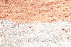 Close up soil and stone Royalty Free Stock Photography