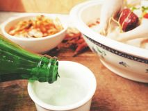Close up of soju korean Royalty Free Stock Photography
