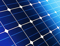 Close up solar cell battery Stock Photo
