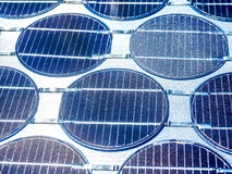 Close up of solar cell in sunlight photovoltaic generation Stock Photography