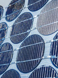Close up of solar cell in sunlight photovoltaic generation Stock Images