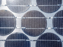 Close up of solar cell in sunlight photovoltaic Royalty Free Stock Images