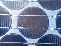 Close up of solar cell in sunlight photovoltaic generation Royalty Free Stock Image
